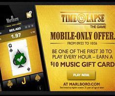 FREE $10 Music Gift Card from Marlboro on http://www.icravefreebies.com/