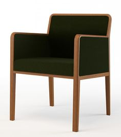 Roma 039 PO, Basic Collection #furniture #chair #design #green #wood #upholstery