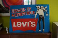 publicité thermoformée Levi's  80s Levi's advert 1980s denim jean advertisement