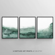 Sage Green Wall Art, Forest Green Printable Art, W Watercolor Walls, Green Watercolor, Abstract Watercolor, Abstract Art, Mountains Watercolor, Watercolor Artists, Abstract Paintings, Oil Paintings, Painting Art