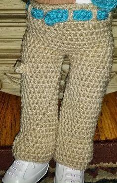 Raising 4 Dinosaurs: Free Pattern: Carpenter Pants for an American Girl Sized Doll