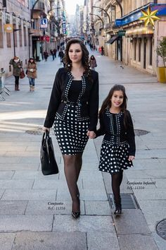 It's fun playing mother and daughter with daddy, I get to wear pretty clothes and stockings just like he does. Mommy Daughter Dresses, Mother Daughter Matching Outfits, Mother Daughter Fashion, Mom Daughter, Little Girl Dresses, Mom And Baby Outfits, Family Outfits, Kids Outfits, Fashion Kids