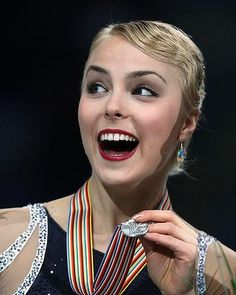 Kiira Korpi of Finland reacts after winning the silver.