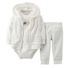 Carter's Animal Friends Hooded Cardigan Set - Baby