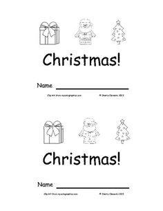 Emergent Reader: Christmas: Sight Words (I, see, a) from Dr. Clements' Kindergarten on TeachersNotebook.com -  (9 pages)  - Emergent Reader: Christmas: Sight Words (I, see, a)