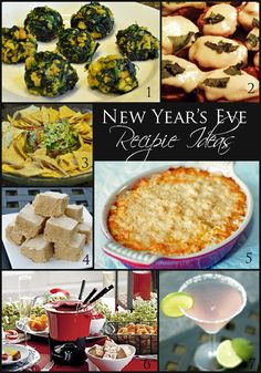 7 New Year's Eve Party Recipes from savory to sweet and a cocktail too!
