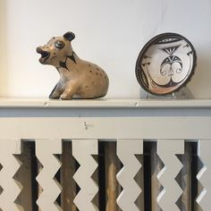 We love it when dogs come to visit us, but the only pup we have around today is from Cochiti, circa 1880. #nationalpuppyday #simplysantafe #pottery #pueblopottery #neutral