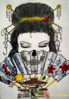 hình xăm geisha 39