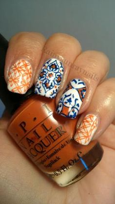 Nail Art: Spanish Tiles | Daily Nails