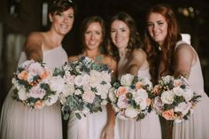 Real Wedding Bridal Bouquet by Something Blue Floral Design, October 2016, Red Button Photography