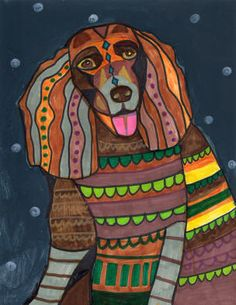 Dog Print Dog Art DOG POP ART Print Dog by HeatherGallerArt, $24.00