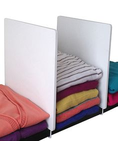 Look what I found on #zulily! White Wood Shelf Divider - Set of Two #zulilyfinds