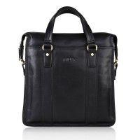 Fashion Handmade Black Leather Handbag For #Executive Men