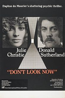 Don't Look Now is one of the first movies to ever give me bad dreams. To this day I don't like red raincoats.