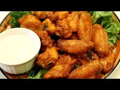 Make spicy chicken wings at home. You can bake crispy wings for a healthier version of your favorite hot wings recipe, and a Buffalo sauce is super easy to p. Original Buffalo Wings Recipe, Fried Buffalo Wings Recipe, Easy Chicken Wing Recipes, Chicken Wing Sauces, Recipe Chicken, Crispy Baked Chicken Wings, Jerk Chicken, Buffalo Chicken, Fried Chicken