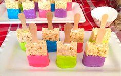 rice crispy paint brushes for kids art show
