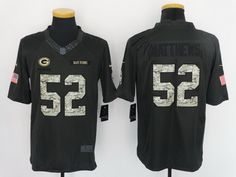 Men s Green Bay Packers Clay Matthews Black Anthracite 2016 Salute To Service  Stitched NFL Nike Limited Jersey f00d4e893