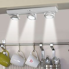 Punto luce a 3 faretti - 9 led Track Lighting, Ceiling Lights, 3, Kitchen, Fiat, Home Decor, Houses, Cooking, Decoration Home