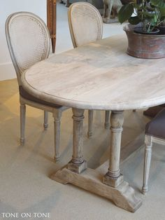 Here is a 19th century Belgian bleached oak dining / kitchen table with oval top and trestle base.