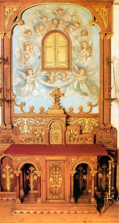 """""""Fresco in the oratory of the Carmel Convent painted by St Therese of Lisieux."""" Well, whaddaya know?!?! The patron saint of our HS was an ARTIST ?!?!?!"""