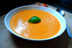 Grilled tomato Cream of Tomato Soup with cocoanut milk