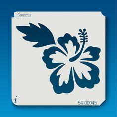 54-00045 hibiscus flower stencil image