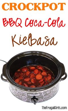 Crockpot BBQ Coca-Cola Kielbasa Recipe! ~ from TheFrugalGirls.com - this easy Slow Cooker recipe is the perfect party or holiday appetizer and is bursting with delicious flavor! #slowcooker #recipes #thefrugalgirls