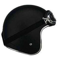 LS2 OF583 Bobber Solid Matte Black Open Face Helmet - LeatherUp.com