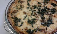 Spinach, Mushroom and Feta Quiche