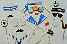 Nautical Photo Booth Props Maritime Captain Sailor by PICWRAP