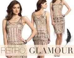 Camille La Vie Short Flapper Vintage Inspired Dress - very Gatsby chic