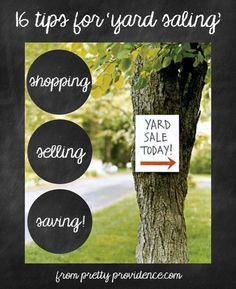 Yard Sale Tips. Whether you are selling or searching this post has all the tips you'll need to be successful!