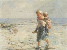 By the Shore by Robert Gemmell Hutchison | Art Posters & Prints