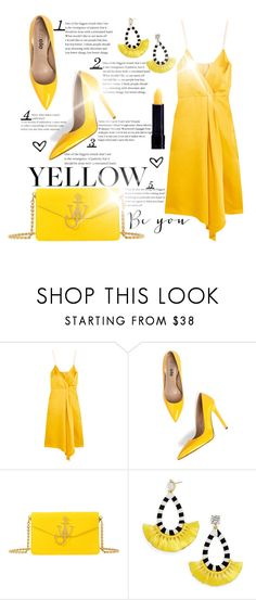"""""""Yellow"""" by fashiontaken1 ❤ liked on Polyvore featuring Victoria Beckham, Jezzelle, J.W. Anderson and BaubleBar"""