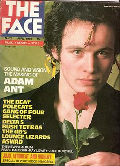 """- The Face Magazine """"Adam Ant"""" cover by Neville Brody / April 1981 Ant Music, Neville Brody, The Face Magazine, Adam Ant, Post Punk, Get To Know Me, Star Designs, My Favorite Music, Album Covers"""