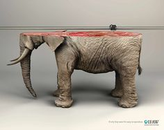 """""""If only they were this easy to reproduce."""" International Fund for Animal Welfare: Elephant. Advertising Agency: Y&R, Paris, France, 2015 Creative Advertising, Print Advertising, Print Ads, Advertising Campaign, Communication Animale, Ad Of The World, Saatchi Gallery, Best Ads, 3d Models"""