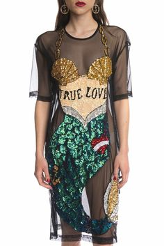 DI$COUNT UNIVERSE MERMAID MESH DRESS