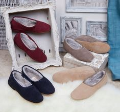 """""""shearling slippers"""" """"Shearling Lined Slippers"""" """"Shearling Moccasin Slipper"""" """"Shearling Lined Moccasin Slippers"""" Shearling Slippers, Sheepskin Slippers, Best Slippers, Moccasins, Cosy, Espadrilles, Handmade, Shoes, Beautiful"""