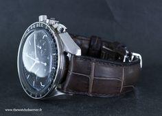 Montre Omega Speedmaster Moonwatch sur bracelet ABP alligator marron