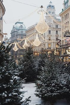 Holiday Slideshow : 2 Weeks until Christmastime -- 22 images of holiday inspiration, from snow-covered trees to icy castles, and candles on the mantelpiece.