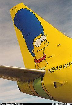 Marge Simpson B737 tail #jorgenca