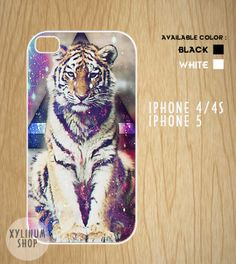 Tiger Hipster triangle  Case Available for Iphone 4,iphone 4s case,iphone 5 case and Samsung Galaxy S3 and S4 case on Etsy, $15.00