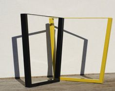 Trapezoid Steel Table Legs, Dining Table Legs, Desk Legs, Kitchen Table Legs, Metal Table Legs Powder Coated SET of 2