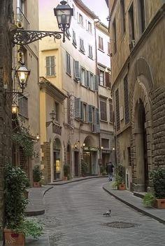 Narrow Street, Florence, Italy
