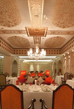 The opulent art form of Dum Pukht cuisine now served in a grandiose setting as the flickering candles create a shimmering patina of gold elevating your dining experience.