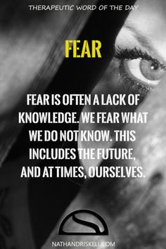 While fear is a normal part of life, it can at times stop us from living life. We fear what we do not know, limiting our experiences. Admit to the fear, then focus on ways to work through it. #fear #anxiety nathandriskell.com