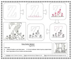 Creative Doodling with Judy West: Daisy Garden Alphabet Distructions#comment-form