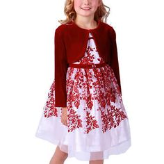Jona Michelle Girls Red Holiday Dress Party Dress NWT Multiple Sizes Available