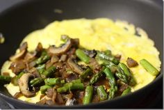 Perfect omelet. Though I would leave out the asparagus!