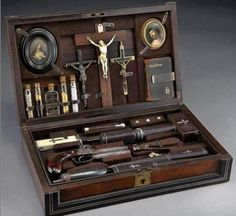 Vampire Killing Kit 19th Century.  True!  For sale via auction expecting to fetch upward of $3000 USD